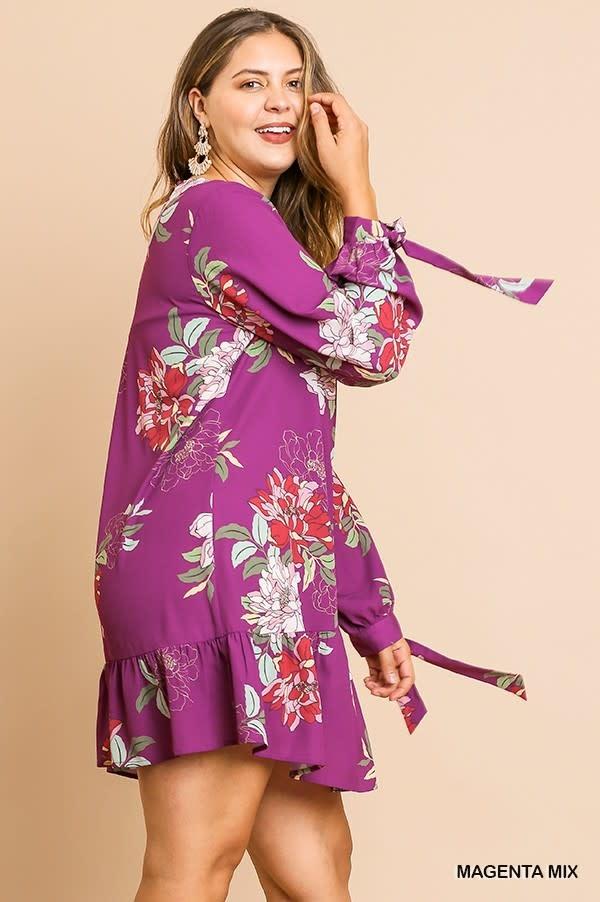 Magenta Mama Dress (Plus)