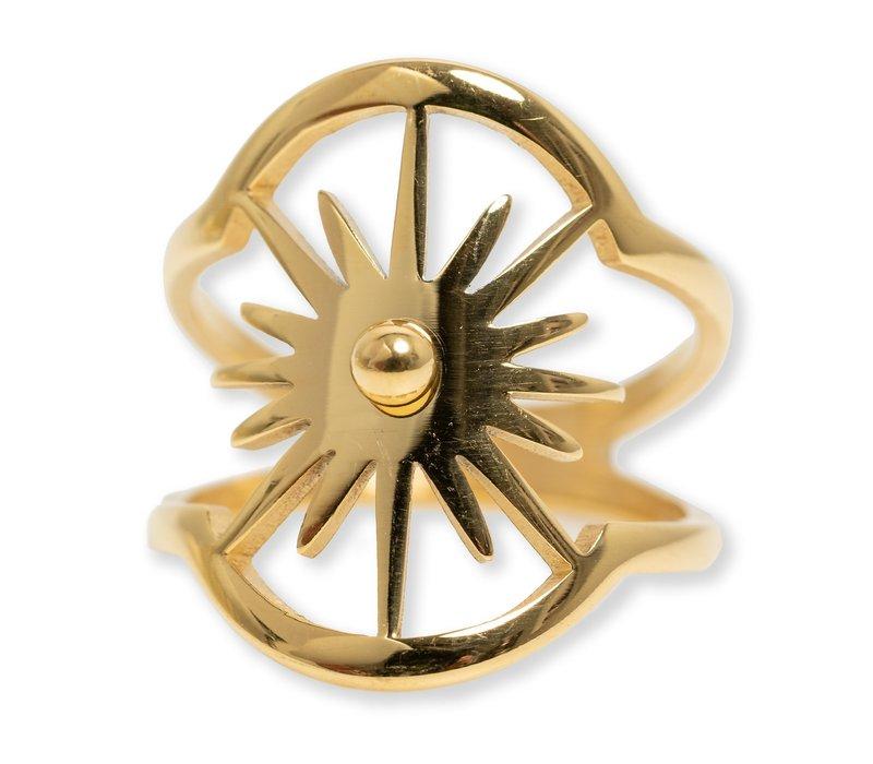 Burst Oval Ring