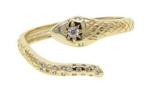 Farrah B Gold Snake Ring