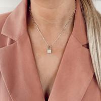Plain Lock Necklace