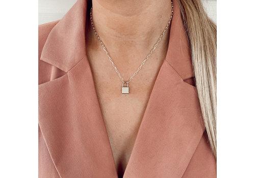 Farrah B Plain Lock Necklace