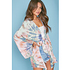 Peach Love California All You Need Kimono