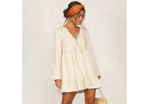 L Michele Lita Linen Dress