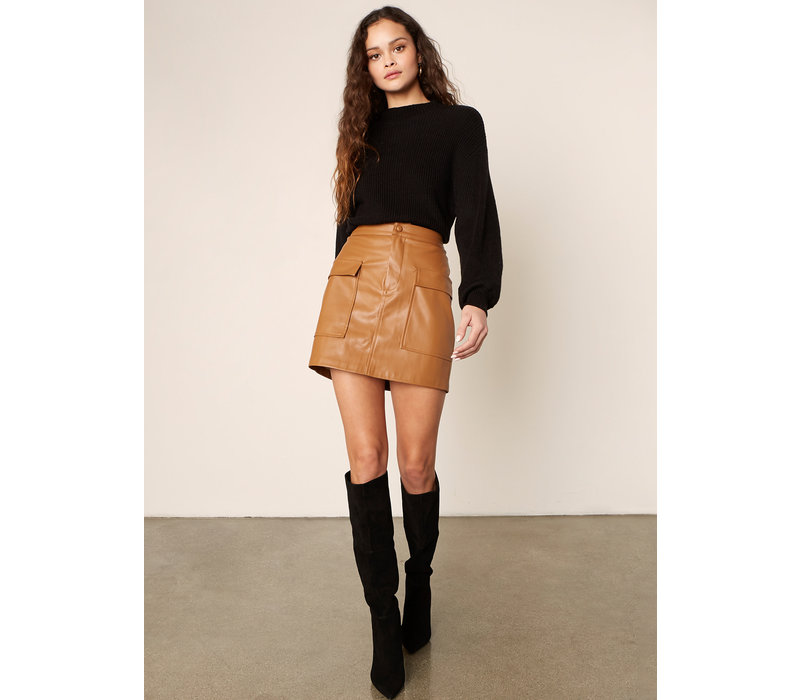 Leather Too Late Skirt