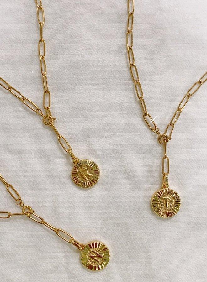 Initial Medallion Lariat