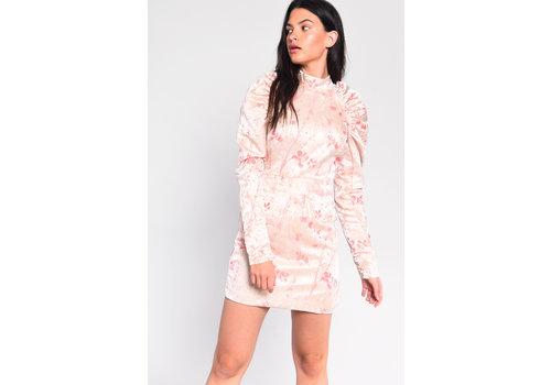 Glamorous Babe In Brocade Dress