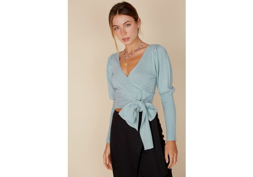 Blue Blush Get Together Wrap Sweater