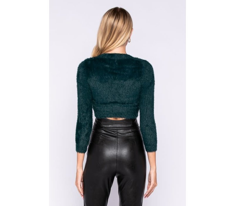 Sue Me Crop Sweater