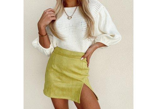 Skylar Madison Límon Mini Skirt