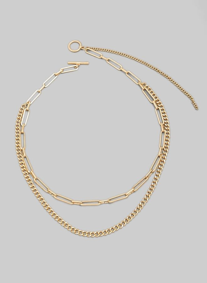 Double Layered Chain Necklace
