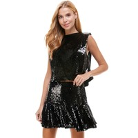 Sequin Muscle Tank