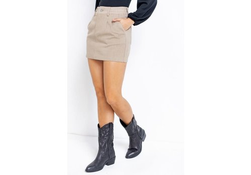 Le Lis Taupe Me The Truth Skirt