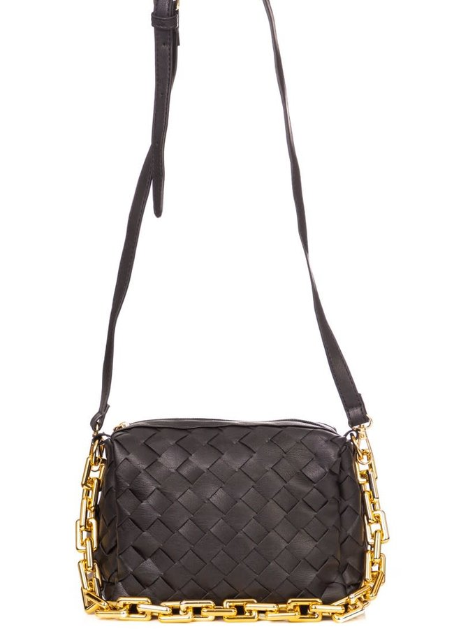 Basket Weave Chain Bag