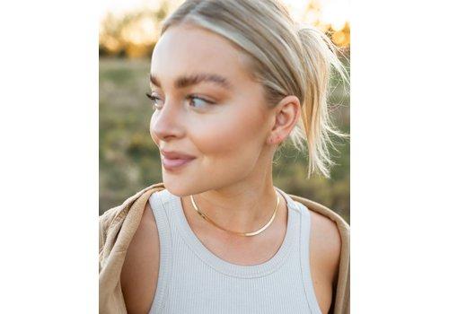 Farrah B Herringbone Necklace