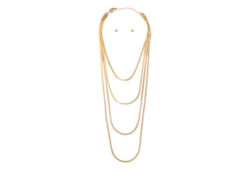 I.CCO Accessories Snake Chain Layered Necklace