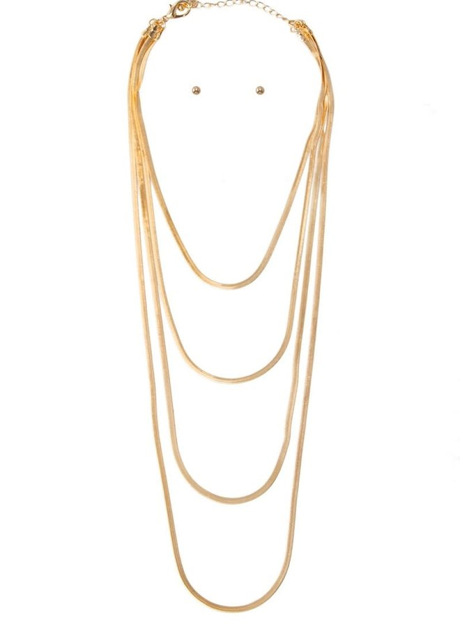 Snake Chain Layered Necklace