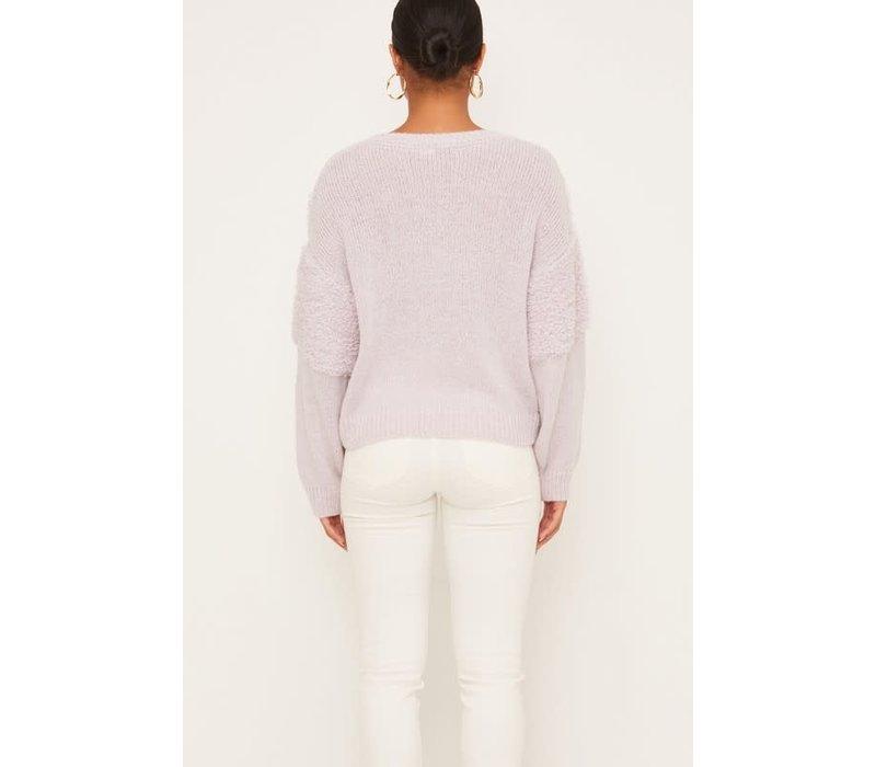 Lilac Chevron Sweater