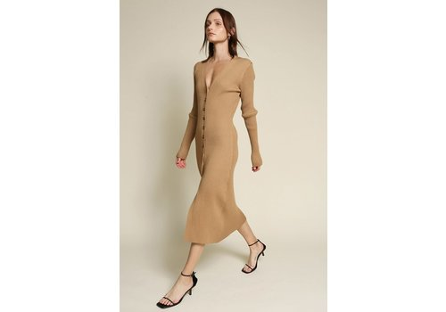 Beige Botany Mary Kate Ribbed Dress