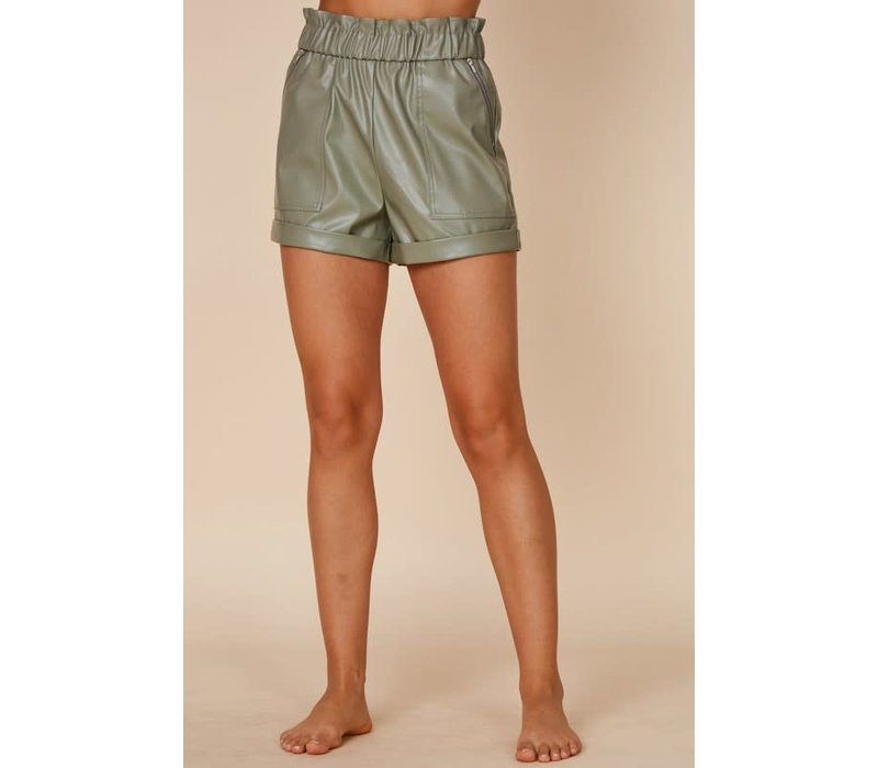 Dirty Martini Leather Shorts