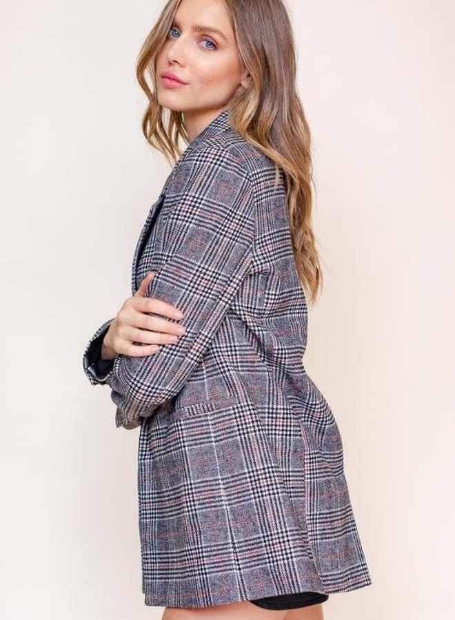 Meet Me Plaid Blazer