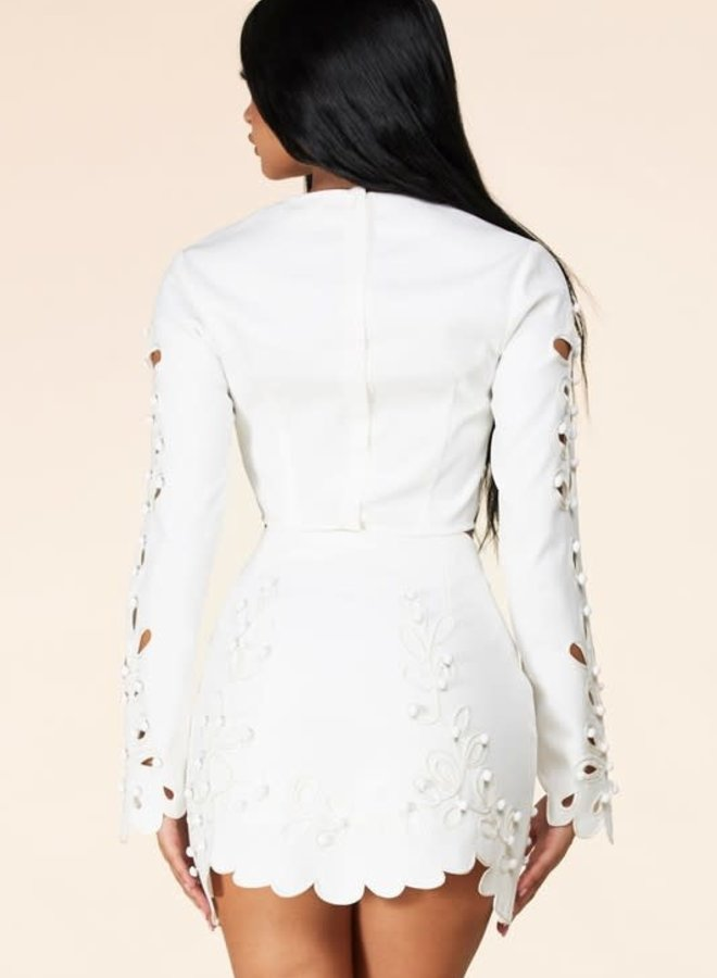 Sakai Embroidered Skirt