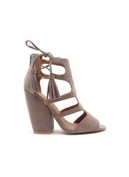 Qupid Sawyer Cutout Heels