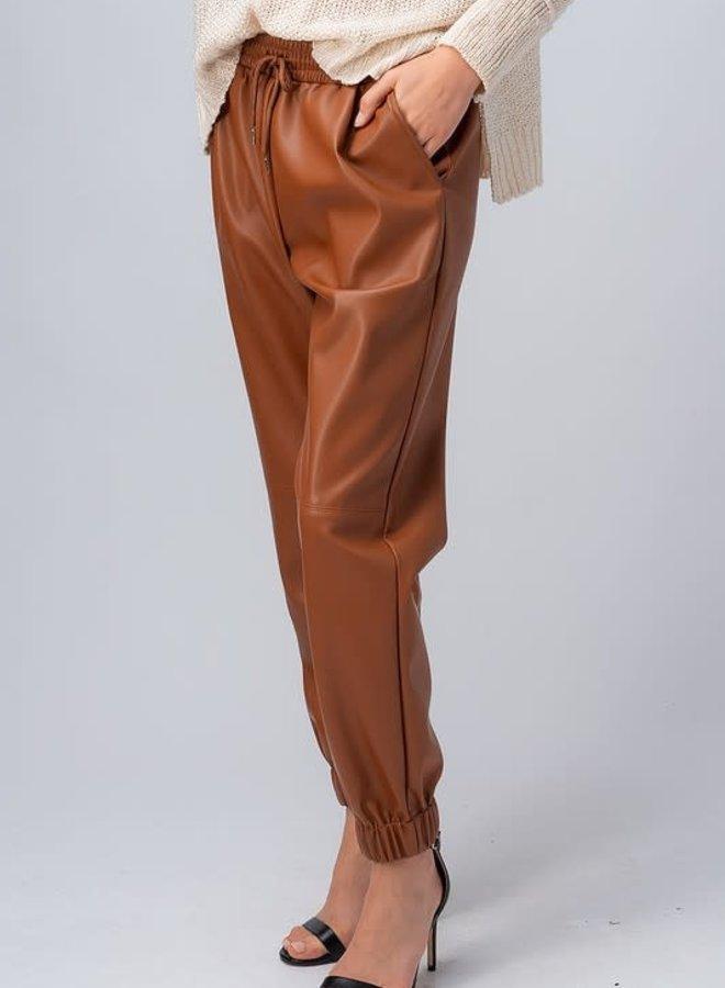 Vegan Leather Jogger
