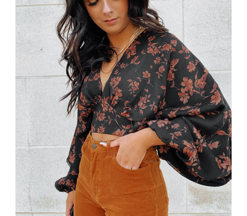 Here it Goes Again Wrap Top