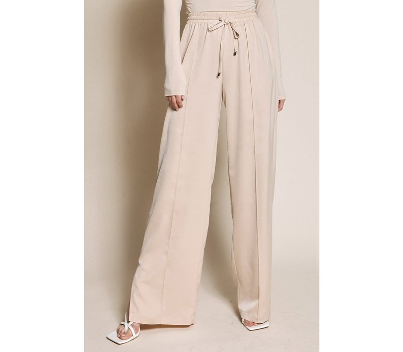 Satin Drawstring Pants