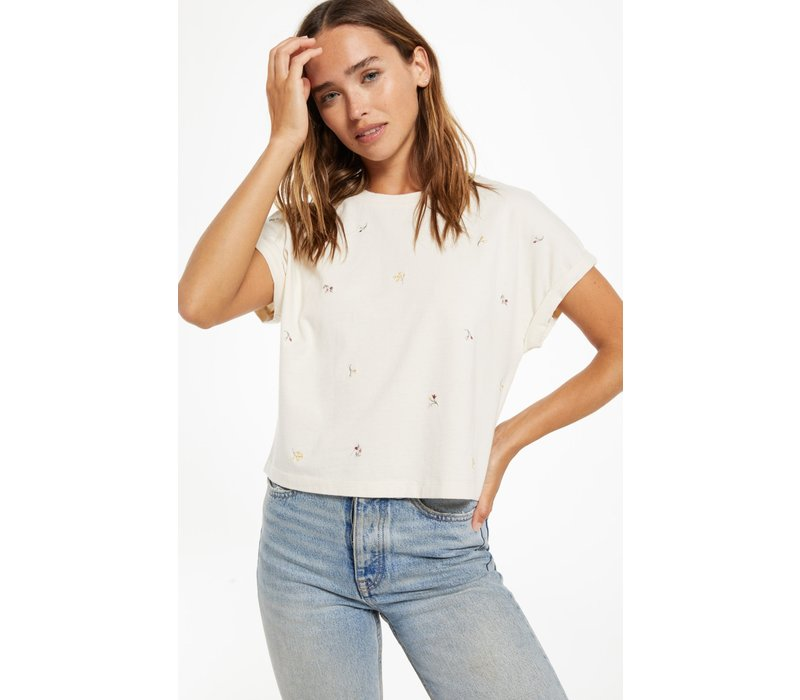 Keely Embroidered Tee