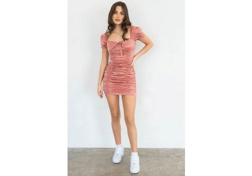 MNI Los Angeles Irina Satin Dress