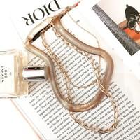 Layered Herringbone Necklace