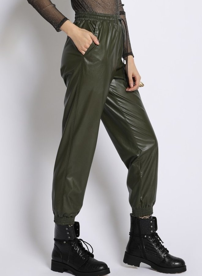 Haley Leather Jogger