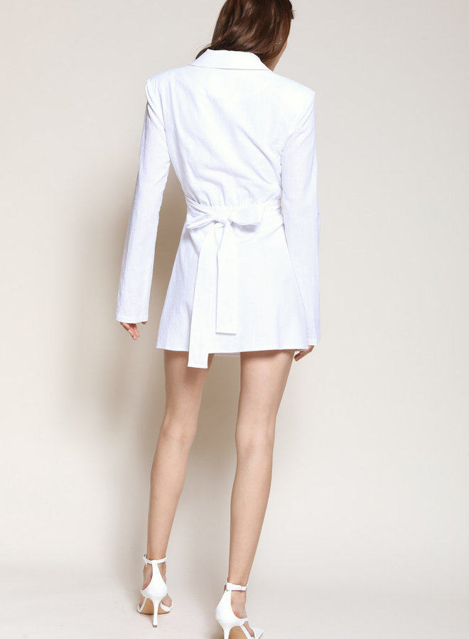 Pursue Me Linen Dress