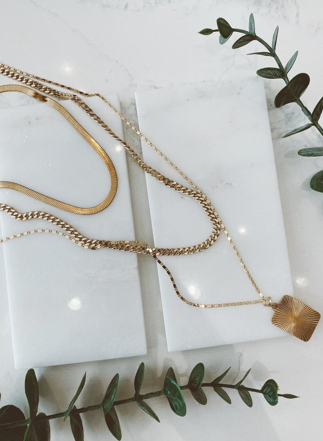 Polished 3-Layer Necklace
