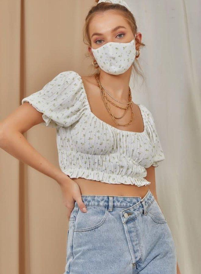 Shirt, Scrunchie + Mask Set