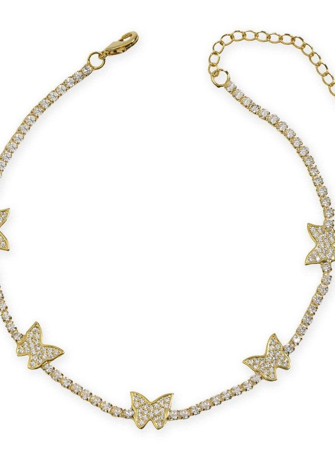 Bailey Butterfly Anklet