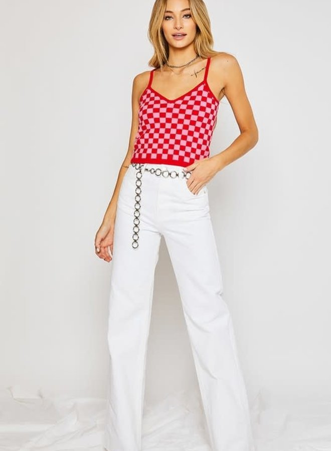 Cleo Checkered Top