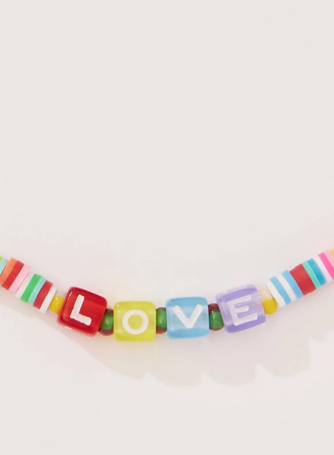 Beaded Love Necklace