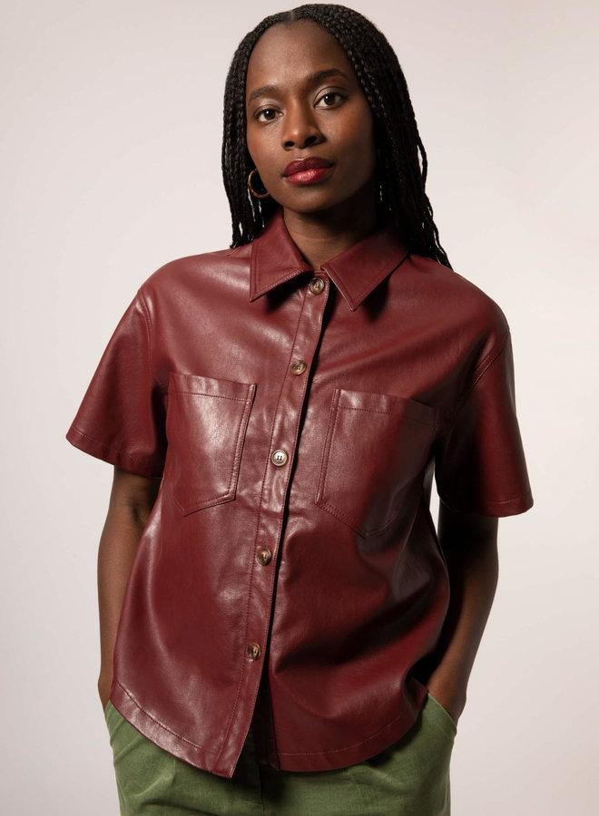 Cendy Leather Shirt
