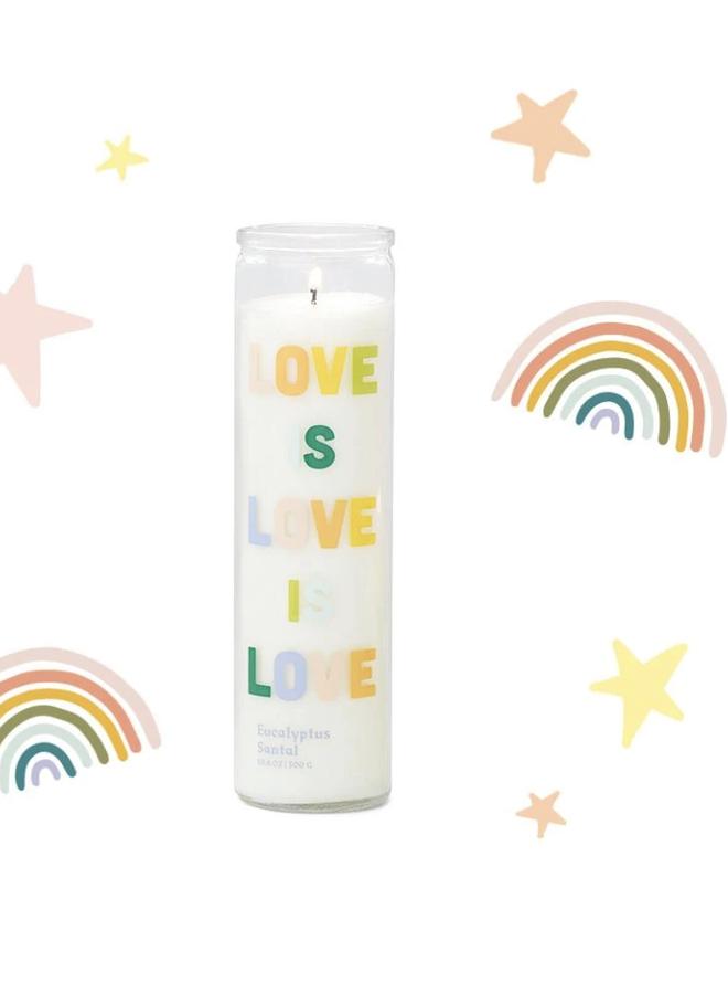 Rainbow Votive Candle