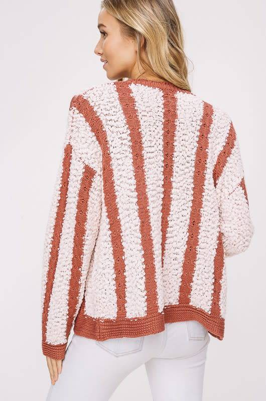 Listicle Striped Cardigan
