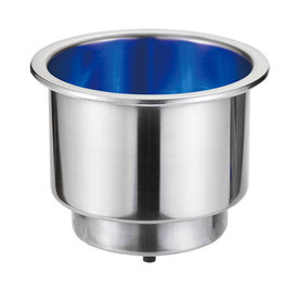 """Victory CAN HOLDER. w/BLUE LED, 2-5/8"""" BASE DIA.X 3""""H."""