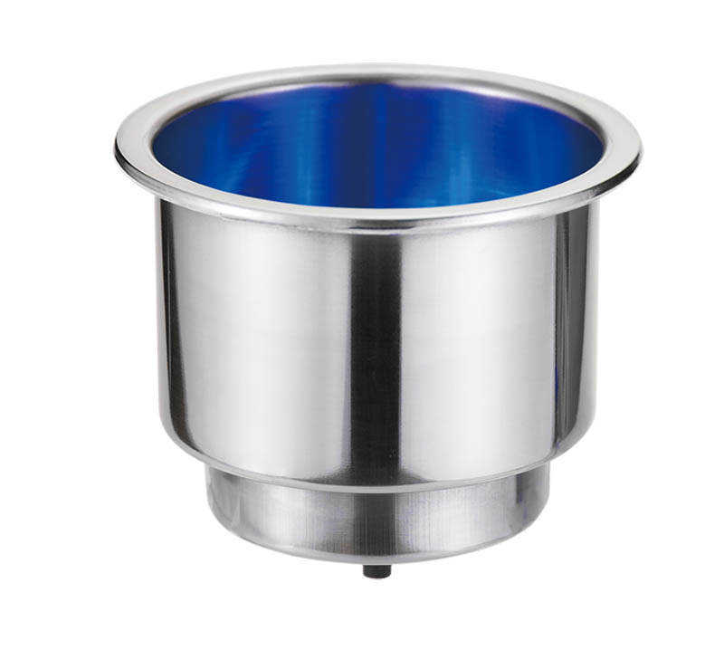 "Victory CAN HOLDER. w/BLUE LED, 2-5/8"" BASE DIA.X 3""H."