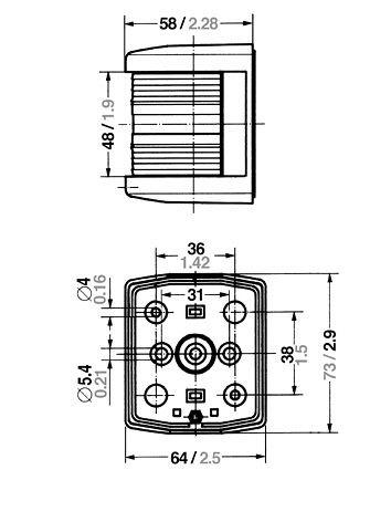 AQUA SIGNAL 25100-7 AQUASIGNAL SERIES 25 CLASSIC BICOLOUR LIGHT 1NM (replaces STD) 25100-7
