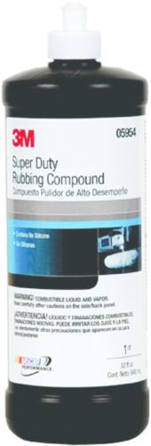 3M Products 3M COMPOUND RUBBING 05954 H/DUTY  QT.
