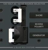 Blue Sea BLUE SEA PANEL AC BSS8032 SOURCE SELECTOR 30A