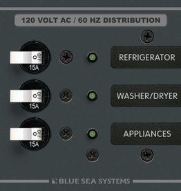 Blue Sea 8058 BLUE SEA BREAKER PANEL- AC 3 POSITION 8058