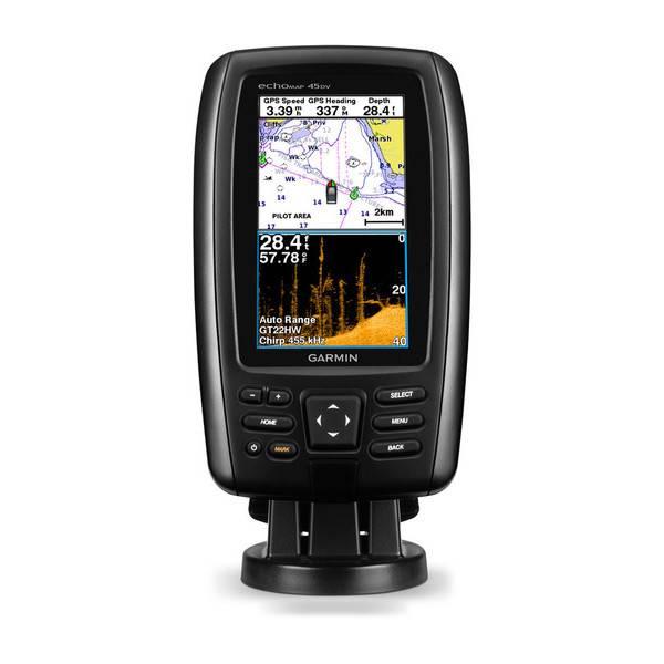 GARMIN Garmin echoMAP 45cv w/transducer Canada LakeVu