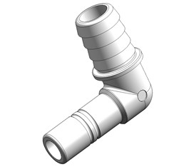 "Whale WHALE SYSTEM 15 STEM WX1592B  ELBOW 3/4"" HOSE"